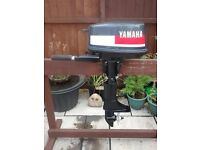 YAMAHA 5HP 2 STROKE SHORT SHAFT OUTBOARD , DINGHY DINGY TENDER RID FISHING BOAT
