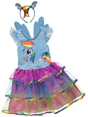 Mein Kleines Pony Regenbogen Streifen Maskenkostüm Stirnband Abnehmbar Wings - Regenbogen Pony Kostüm