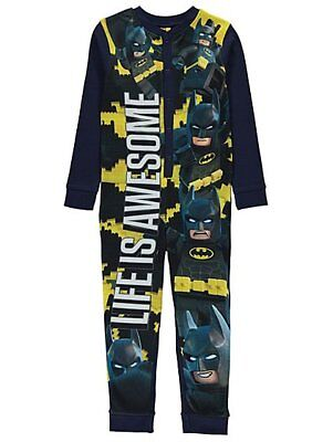 Jungen Dc Comics Lego Batman Fleece Alles in einem Schlafanzug Ages 4-10 Jahre