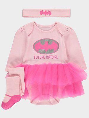 Baby Mädchen 3 Teile Batgirl Tutu Party/Kostüm/Outfit 0-6 Monate