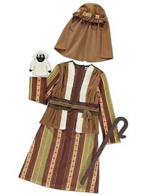 SHEPERDS FANCY DRESS OUTFIT AGE 7/8 BRAND NEW WITH TAGS PARTY OR PLAY