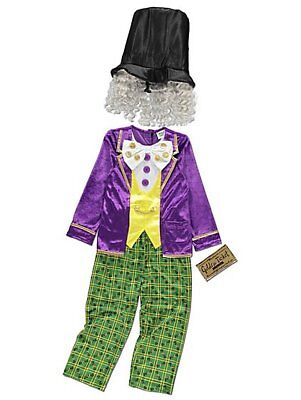 George Roald Dahl Willy Wonka Boys Fancy Dress Costume Outfit World Book Day ()