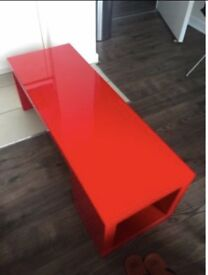 Ikea 'Lack' Coffee Table finished in Red