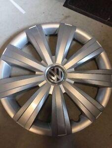 VW jetta wheel covers and steel wheels.