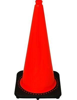 2850-7- 28 In. Orange Safety Traffic Cones, 6 Cones Per Pkg Wide Body *Free - Orange Traffic Cones
