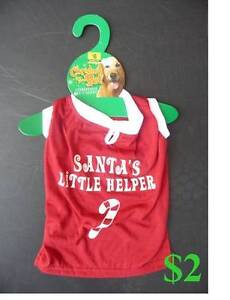 Christmas dog outfits to suit small dog. Ingle Farm Salisbury Area Preview