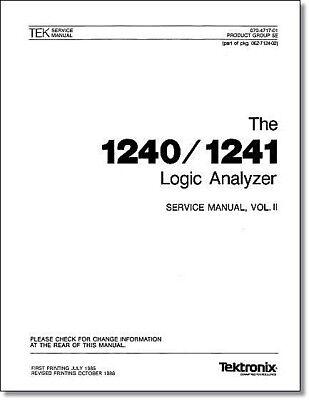Tektronix 1240 1241 Service Manual Vol 2 W11x17 Foldouts Plastic Covers