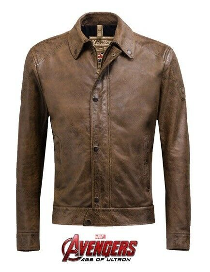 CHRIS EVANS Avengers MATCHLESS CAPTAIN AMERICA Leather Jacket 36 Worn In Promos!