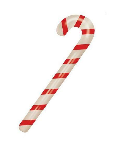 NEW INFLATABLE FUN TOY CHRISTMAS RED WHITE STRIPED CANDY CANE 90cm HB