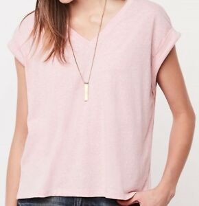 Roots new Linette Top, M size, pink mixed colour