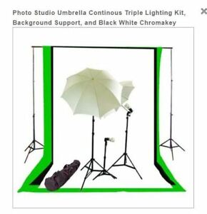GREEN SCREEN STUDIO KIT AND LIGHTING