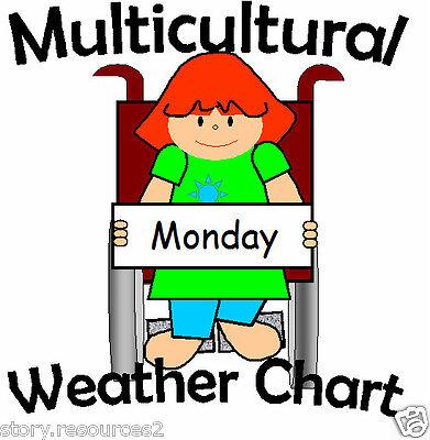 WEATHER CHART multicultural resource EYFS CHILDMINDER Teaching Resources KS1 SEN