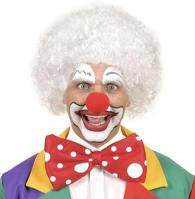 Clown Perücke in weiß NEU - Karneval Fasching Perücke Haare (Weiße Clown Perücke)
