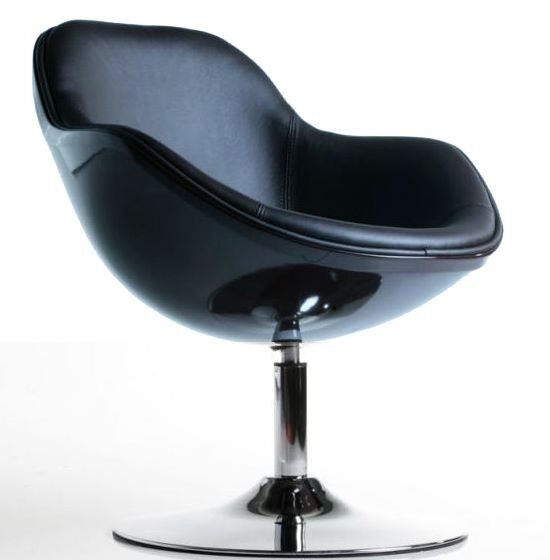 Lounge sessel schwarz  Design Sessel SPEEDCHAIR schwarz total Stuhl drehbar Chrom ...