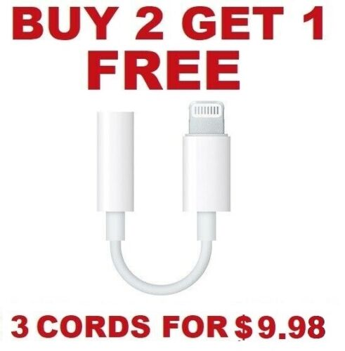 For Apple iPhone Headphone Adapter Jack Lightning to 3.5mm Cord Dongle