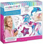 Make It Real knutselset verffiguren meisjes roze 19 delig