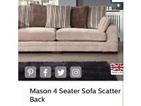 SCS MASON 4 SEATER SCATTER BACK SOFA GOOD CONDITION