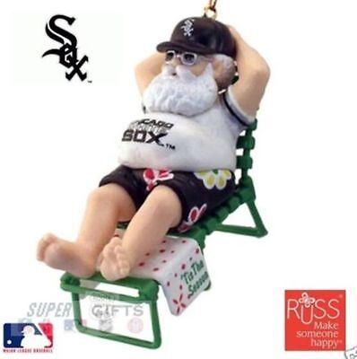CHICAGO WHITE SOX CLASSIC BASEBALL SANTA BASEBALL @ THE BEACH ORNAMENT NEW STOCK (Chicago White Sox Santa Stocking)