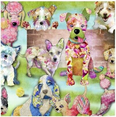 Good Animal Costumes (Animal Fabric - Good Dogs Too Colorful Packed Pooches Digital - 3 Wishes)