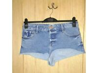 River Island denim shorts, S12