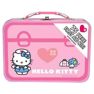 kIDS HELLO KITTY 75 Piece First Aid Kit With Collectible Tin Case