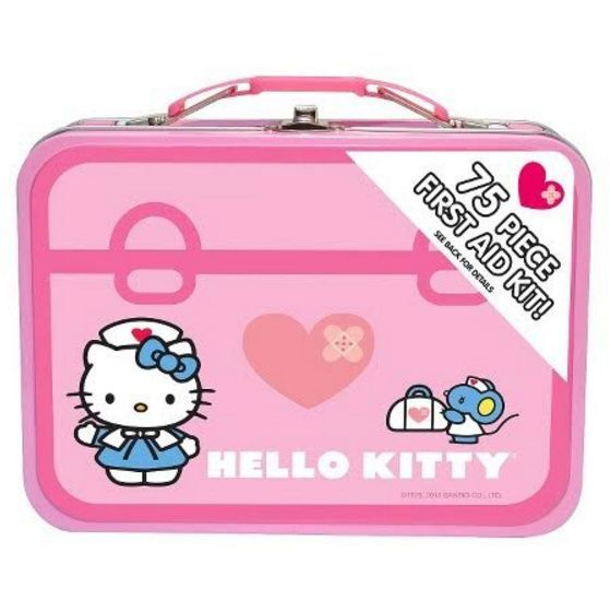 Hello Kitty - SUPER RARE & CUTE ! Hello Kitty 75 Piece First Aid Kit With Collectible Tin Case