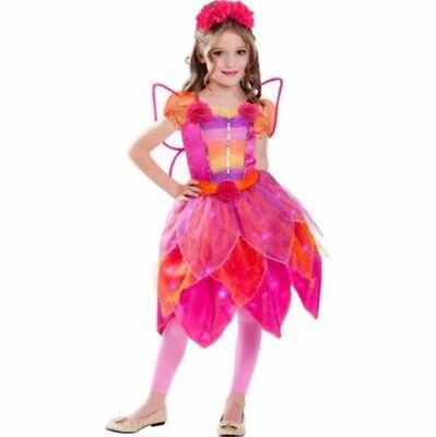Rainbow Fairy Light-Up Girl's Halloween Dress-Up Costume Pink Small - Rainbow Fairy Costume