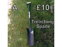 Gardening Tools (A) - Trenching Spade
