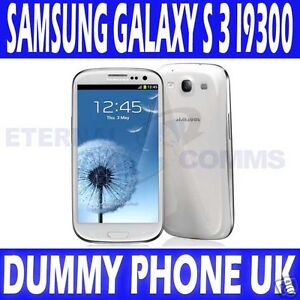 NUOVO-SAMSUNG-GALAXY-S-3-I9300-BIANCA-MANICHINO-display-telefono-UK