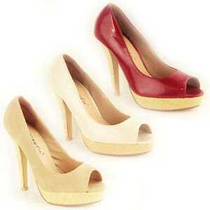 WOMENS-LADIES-PLATFORM-PEEP-TOE-HIGH-STILETTO-HEEL-SANDALS-COURT-SHOES-SIZE-3-8