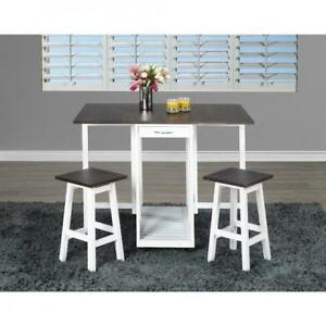 3 PC Breakfast table in white (BD-1822)