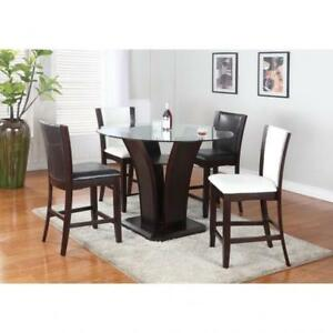 glass kitchen table   table chairs (BR914)