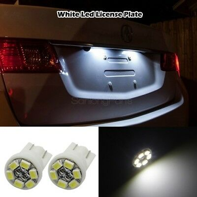 2pcs T10 168 194 2825 6 SMD LED Bulbs For License Plate Lights 6000K White