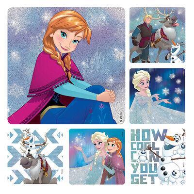 10 Disney Frozen Glitter  Stickers Party Favors Teacher Supply Elsa Anna Olaf (Frozen Olaf Party Favors)