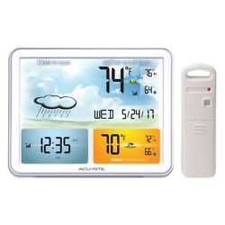 Weather Station with Jumbo Display & Atomic Clock Oversized Color, Remote Sensor
