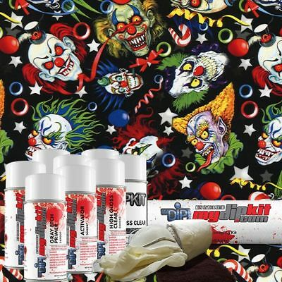 Hydro Dipping Water Transfer Printing Hydrographics Dip Kit Crazy Clowns Dd-945