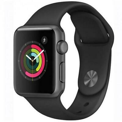 Apple Watch Sport 42mm 7000 Series Space Grey Case Black Bands