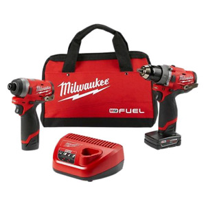 "MILWAUKEE M12 FUEL 1/2"" Hammer Drill and 1/4"" Hex Impact Driver"