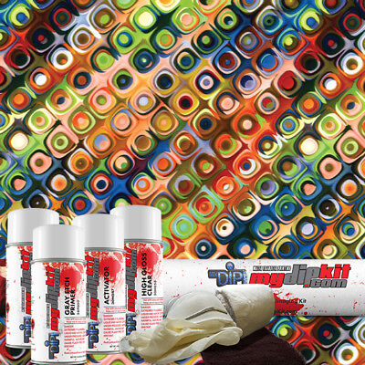Hydrographic Film Kit Hydro Dipping Water Transfer Printing Retro Dd-514