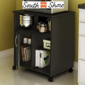 """NEW SOUTH SHORE MICROWAVE CART 11662 224904942 30"""" PURE BLACK"""