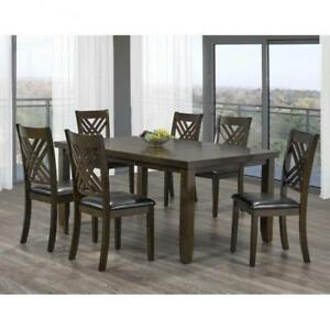 "Wooden 7 PC Dining Set with 18"" Leaf on Sale - Yorkdale Furniture Sale (BD-1806)"