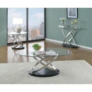 Modern coffee Table with Metal Base (BD-1947)