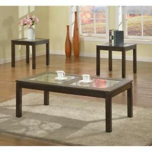Coffee Table Set - 3 PC Coffee Table Set - Wooden Coffee Table (BR281)