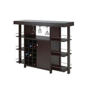 Bar with black tempered glass only $379