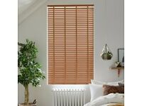 Wooden Venetian Blind with coordinating tape Width 236cm x Length 135cm