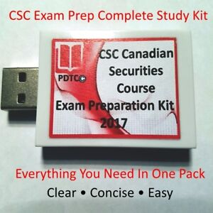 Canadian Securities Course (CSC) 2017 Complete Study Kit