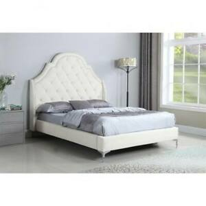 BEDROOM ITEM- QUEEN SIZE PLATFORM BED WITH MATTRESS