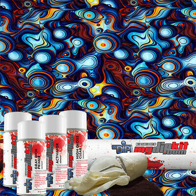 Hydro Dipping Water Transfer Printing Hydrographic Dip Kit Blue Ecstasy Dd-971