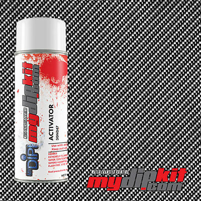 Hydrographics Activator Water Transfer Film Combo Large Black Clear Cf-01-12