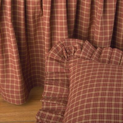 DONNA SHARP ~ CAMPFIRE PLAID BED SKIRT/ DUST RUFFLE OR EURO -